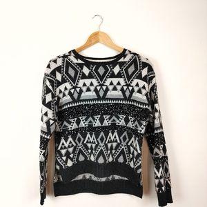 DEX | Sequin Pattern Long Sleeve Knit Sweater
